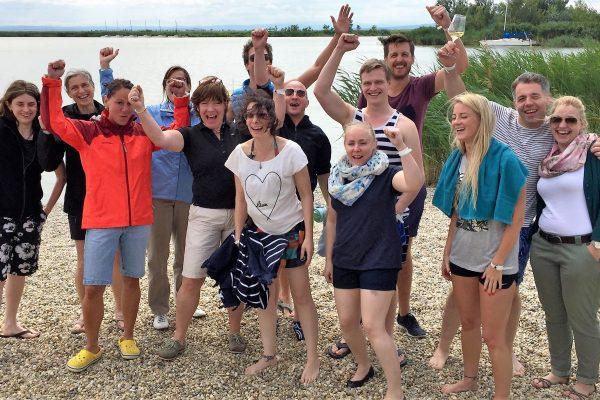 Gruppenbild Burgenlandreise 2016 am See